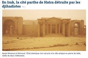 Irak, Hatra, lemonde.fr, 9.3.15