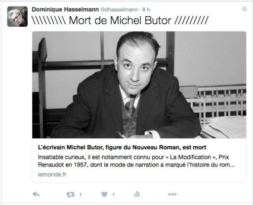 Mort deMichel Butor, Twitter, 24.8.16_DH